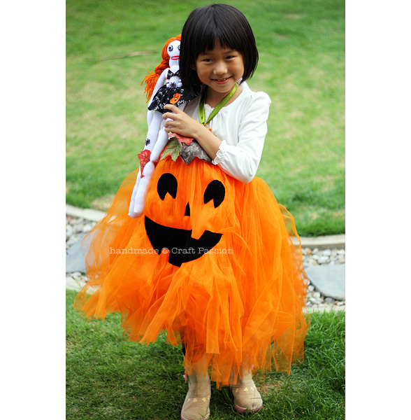 no sew pumpkin tutu tutorial