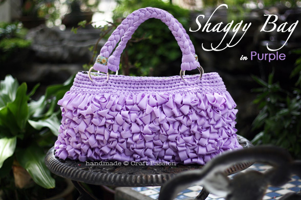 Loop Stitch Shaggy Bag in Purple