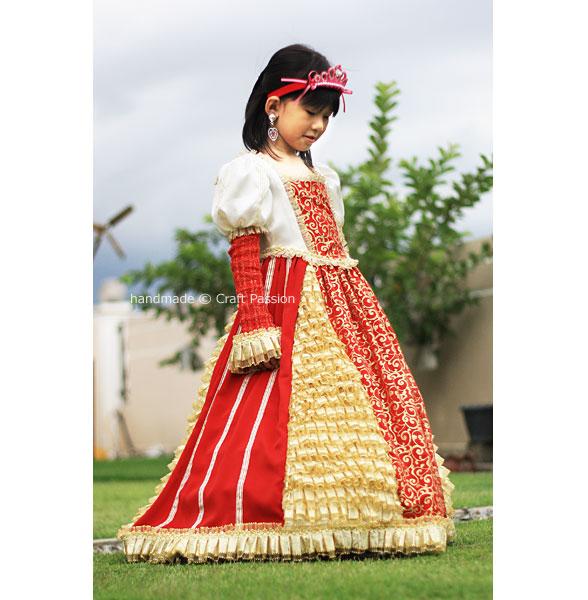 queen gown costume