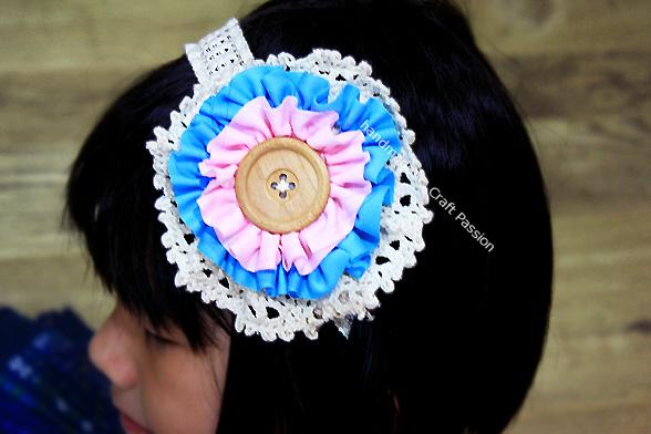 Ruffles Flower Corsage HeadBand