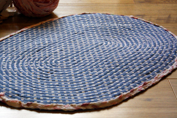 bottom of braided rug