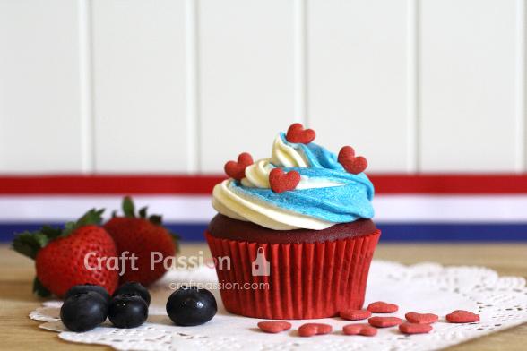 july 4 cupcake