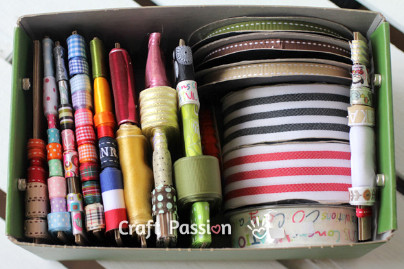 ribbon stash storage
