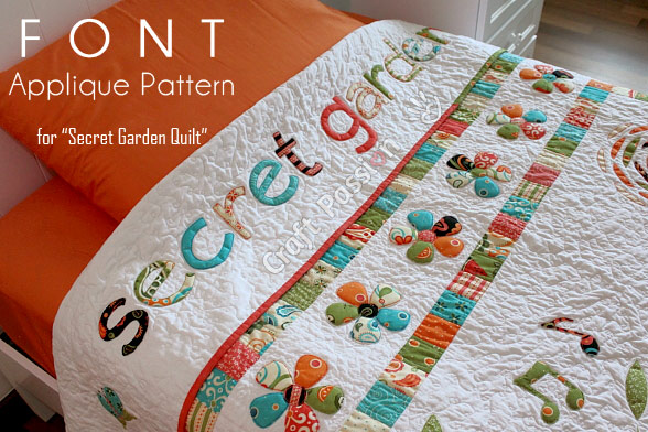 Secret garden font applique free pattern craft passion spiritdancerdesigns Gallery