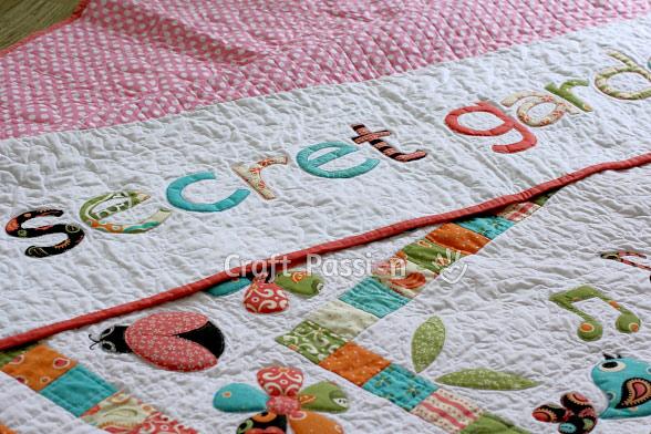 secret garden quilt