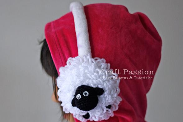 sheep earmuffs pattern