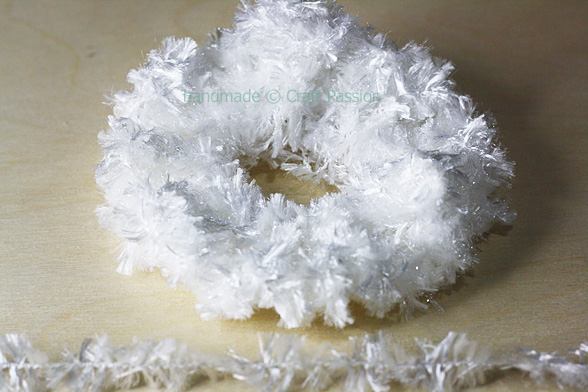 furry hair scrunchies