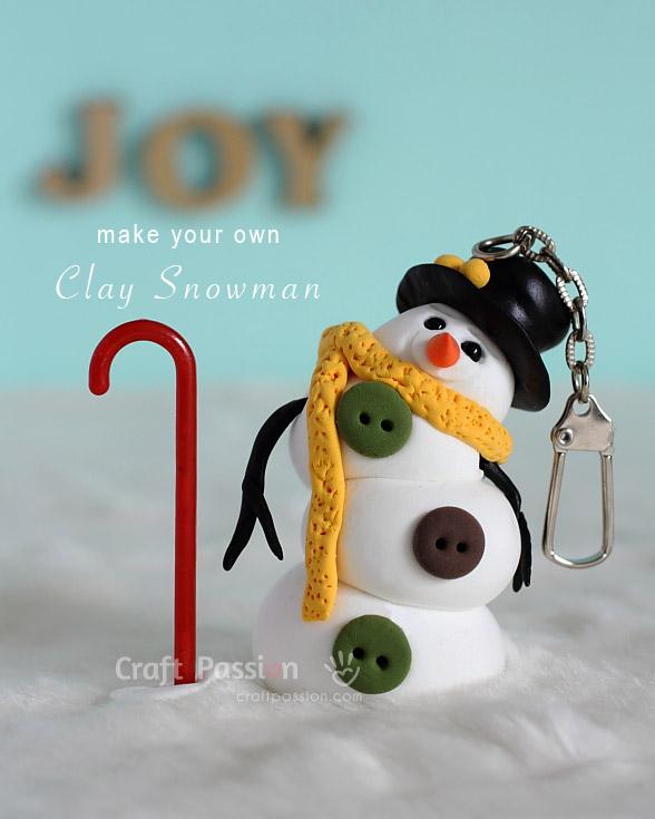 make clay snowman