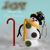 Clay Snowman Charm