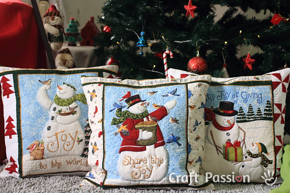snowman quilt pillow pattern