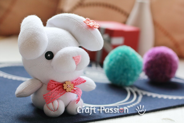 Droopy Eared Sock Bunny Sewing Pattern