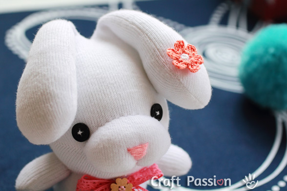 Droopy Ear Sock Bunny