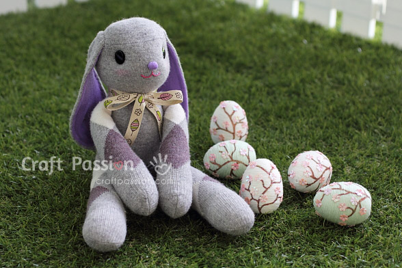 Lop Eared Sock Bunny Sewing Pattern