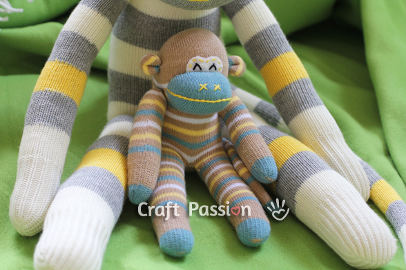 sock monkey for new born