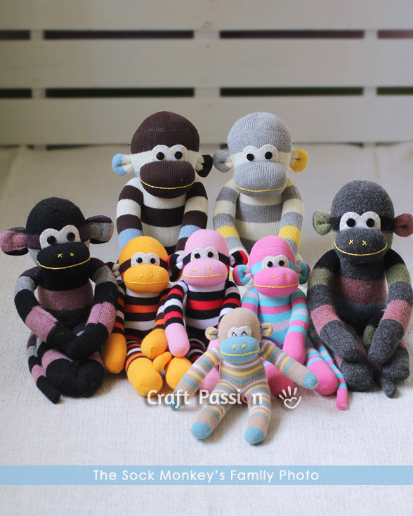 sock monkey sewing pattern