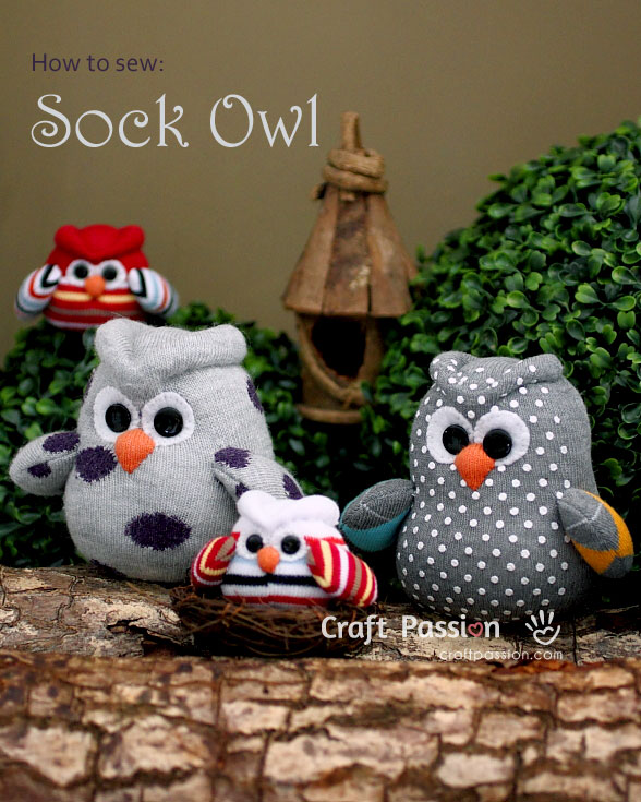 Sock Owl - Free Sewing Pattern & Tutorial | Craft Passion