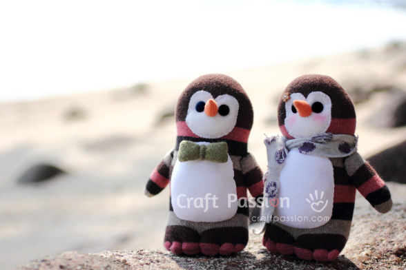 How To Sew Sock Penguin