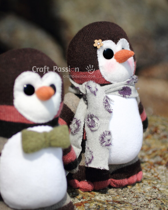 no sew sock penguin craft sock penguin free sewing pattern craft 6962