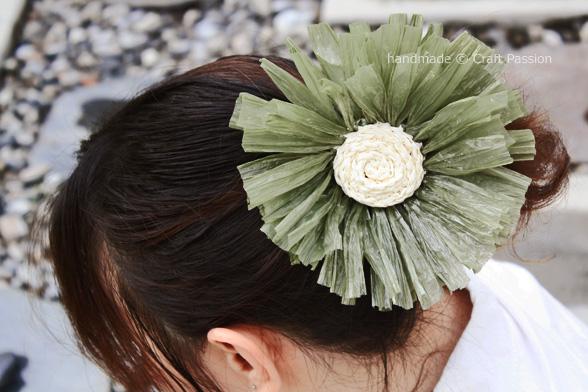 daisy hair tie pattern