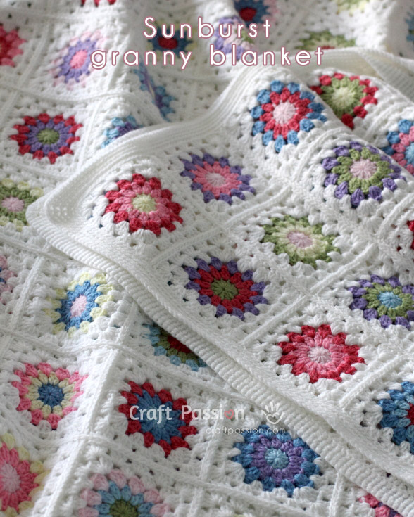 Sunburst Granny Square Blanket - Free Crochet Pattern – Page 2 of 2