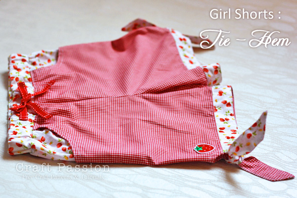 Girl Shorts Sewing Pattern