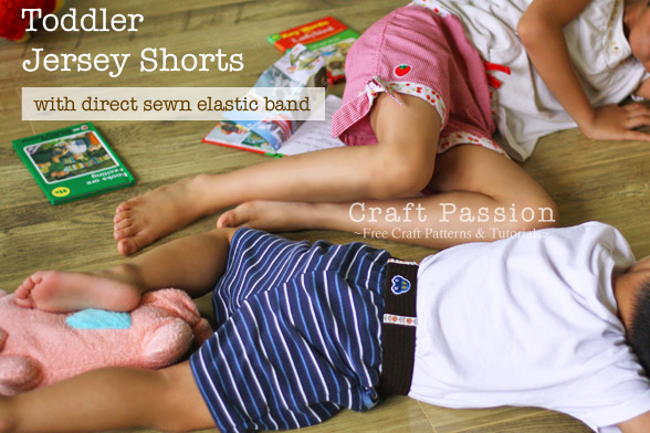 Toddler Knit Shorts Free Sewing Pattern Craft Passion