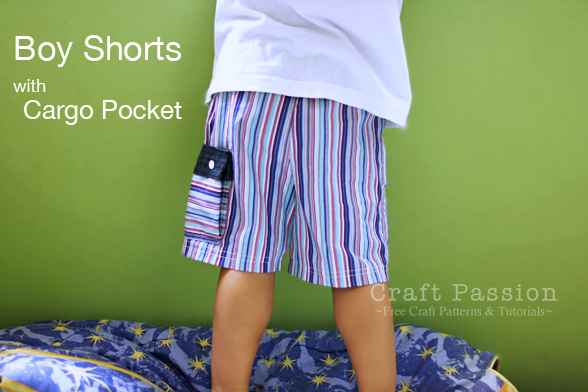 Boy Shorts With Cargo Pocket Free Sewing Pattern