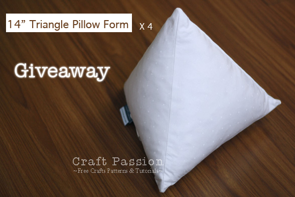 Giveaway (Mar '11): Triangle Pillow Form {Closed}
