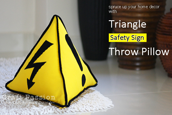 safety triangle pillow