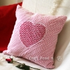 Heart Chenille Valentine Pillow