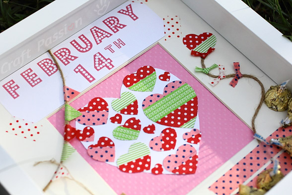 Valentine Scrapbooking Display