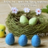 Wet Felting Easter Eggs [with video]