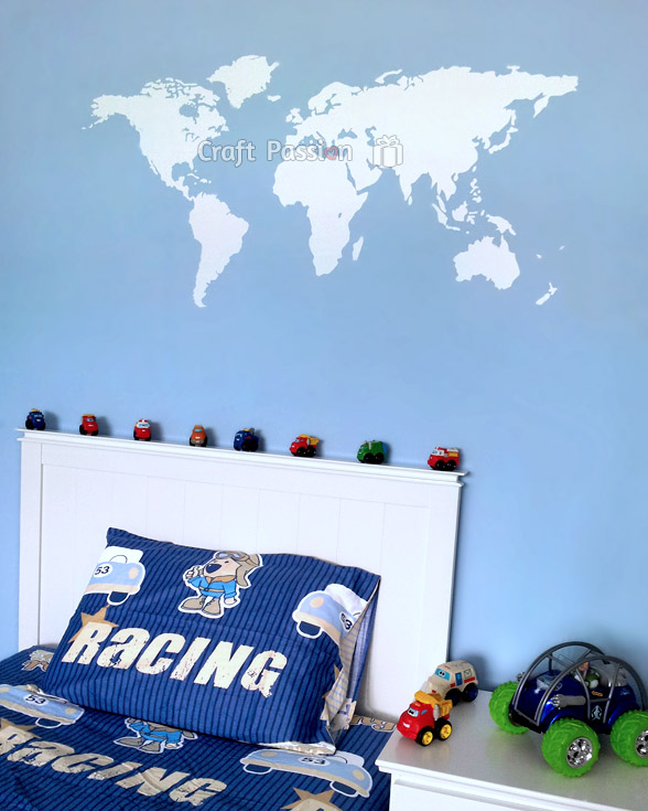 world map wall decal room