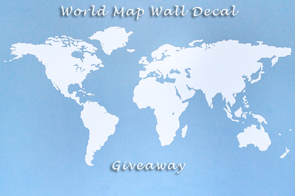 Giveaway: World Map Wall Decal {Closed}