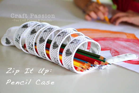 Zip-It-Up Pencil Pouch - Free Sew Pattern | Craft Passion