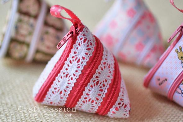 lace zipper coin purse