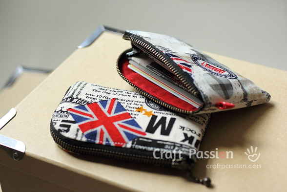 Sew Zipper Card Pouch