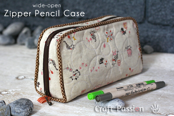 Zipper Pencil Case - Free Sewing Pattern | Craft Passion