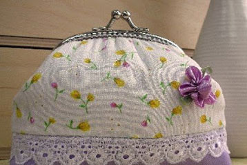 Flower Frame Clutch Purse