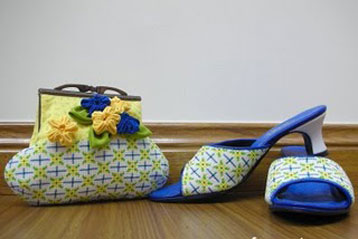 Manek Purse & Shoes