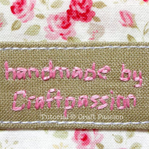 embroidery label pocket