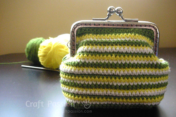 Crochet Stripe Coin Purse