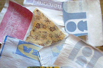 Fused Grocery Plastic Bags