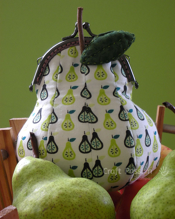 pear coin purse