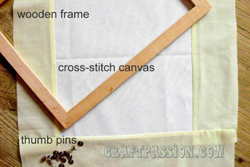 Beading (Manek) Tutorial – Part 1: Preparing The Frame& Canvas