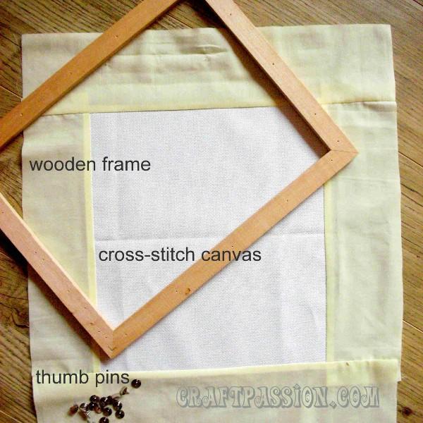 Beading Manek Tutorial Part 1 Preparing The Frame Canvas
