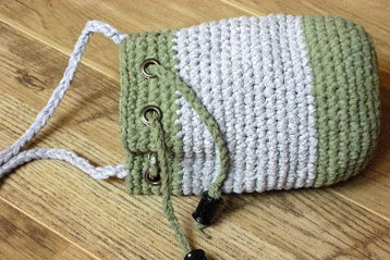Free Pattern – Crochet Drawstring Bag