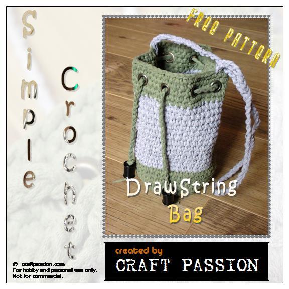 Crochet Drawstring Bag - Free Pattern