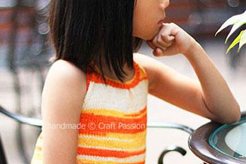 Bareback Halter Knit Top For Little Girl