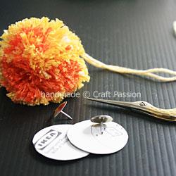 Pom Pom hair Pin 1